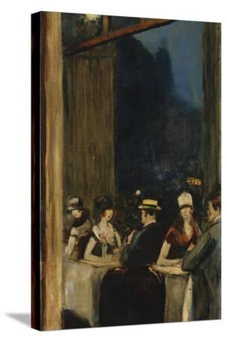 At the Cafe-Lesser Ury-Stretched Canvas Print