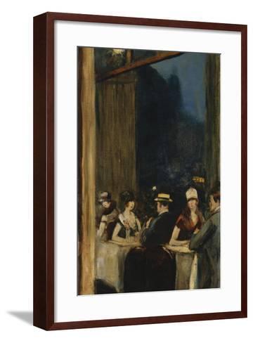At the Cafe-Lesser Ury-Framed Art Print