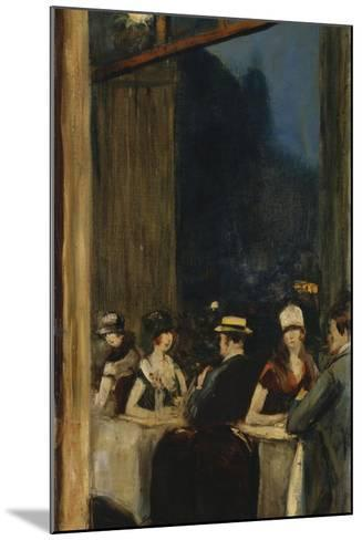 At the Cafe-Lesser Ury-Mounted Giclee Print