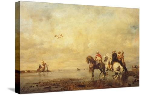 Falcon Hunt in the Sahara, 1863-Eugène Fromentin-Stretched Canvas Print