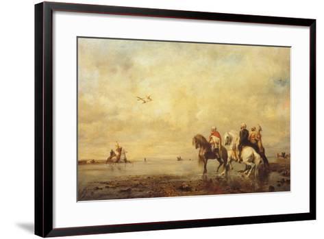 Falcon Hunt in the Sahara, 1863-Eugène Fromentin-Framed Art Print