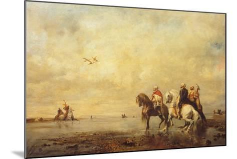 Falcon Hunt in the Sahara, 1863-Eugène Fromentin-Mounted Giclee Print
