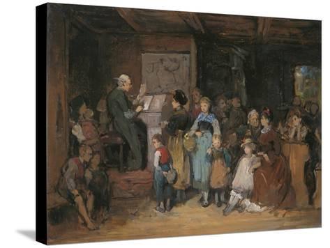 The Registration-Franz Von Defregger-Stretched Canvas Print