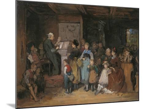 The Registration-Franz Von Defregger-Mounted Giclee Print