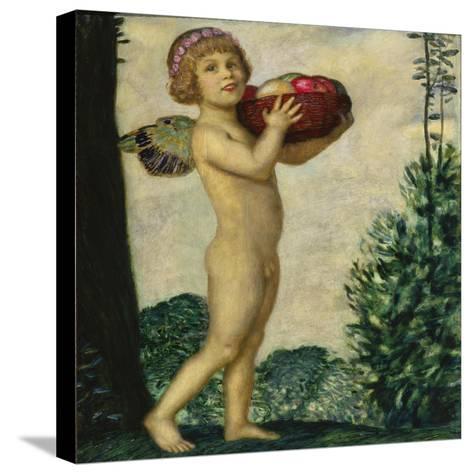 Cupid with Basket of Fruit, C. 1920-Franz von Stuck-Stretched Canvas Print