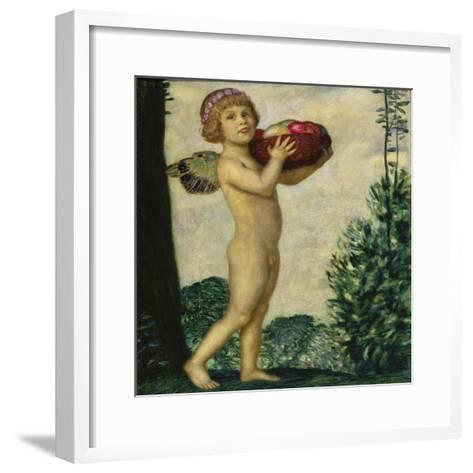 Cupid with Basket of Fruit, C. 1920-Franz von Stuck-Framed Art Print