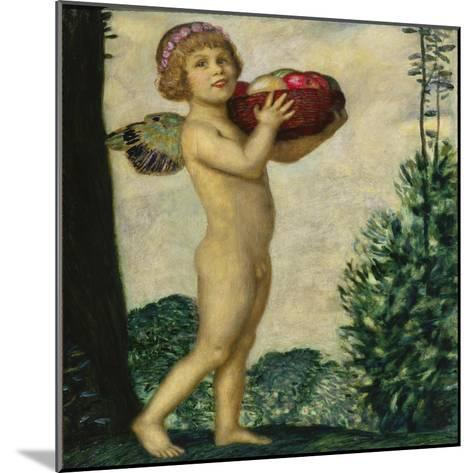 Cupid with Basket of Fruit, C. 1920-Franz von Stuck-Mounted Giclee Print