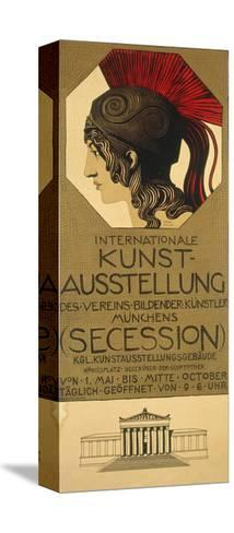 Poster for an Exhibition of Secessionist Art, Ca. 1898-Franz von Stuck-Stretched Canvas Print