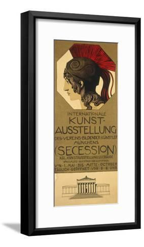 Poster for an Exhibition of Secessionist Art, Ca. 1898-Franz von Stuck-Framed Art Print