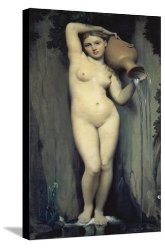 The Source, 1856-Jean-Auguste-Dominique Ingres-Stretched Canvas Print