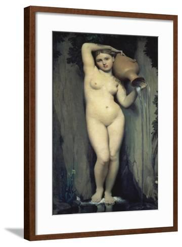 The Source, 1856-Jean-Auguste-Dominique Ingres-Framed Art Print