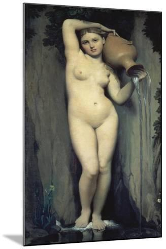 The Source, 1856-Jean-Auguste-Dominique Ingres-Mounted Giclee Print