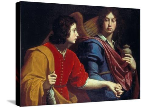 The Archangel Raphael with Tobias, 1740s-Lorenzo Lippi-Stretched Canvas Print