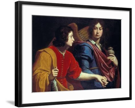 The Archangel Raphael with Tobias, 1740s-Lorenzo Lippi-Framed Art Print