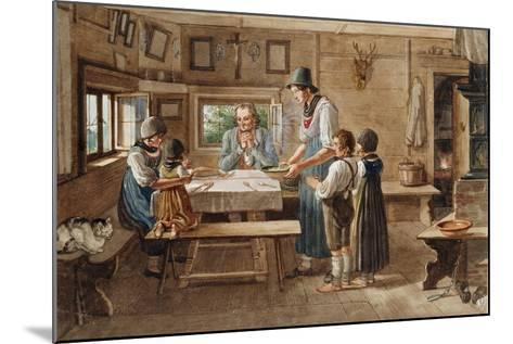 Grace before the Meal-Lorenzo Quaglio-Mounted Giclee Print