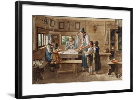 Grace before the Meal-Lorenzo Quaglio-Framed Art Print