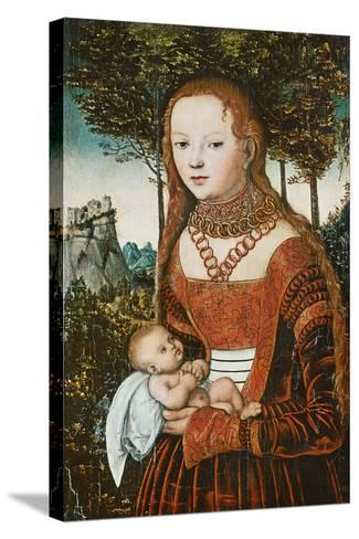Mother with Child, C. 1525-Lucas Cranach the Elder-Stretched Canvas Print