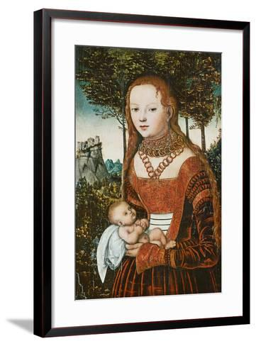 Mother with Child, C. 1525-Lucas Cranach the Elder-Framed Art Print