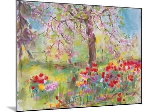 Tulips under Blossoming Appletree, 1991-Eva Fischer-Keller-Mounted Giclee Print