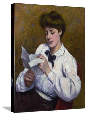 Reading a Letter-Federico Zandomeneghi-Stretched Canvas Print