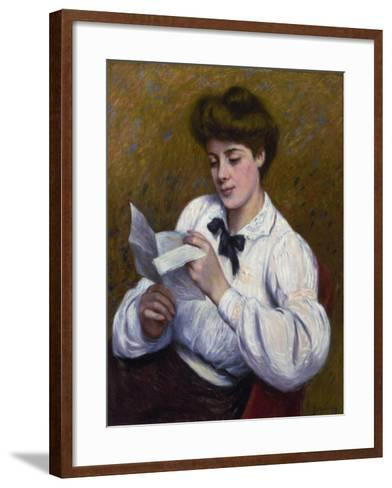 Reading a Letter-Federico Zandomeneghi-Framed Art Print