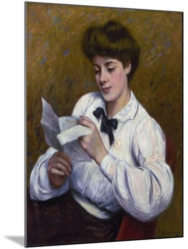 Reading a Letter-Federico Zandomeneghi-Mounted Giclee Print