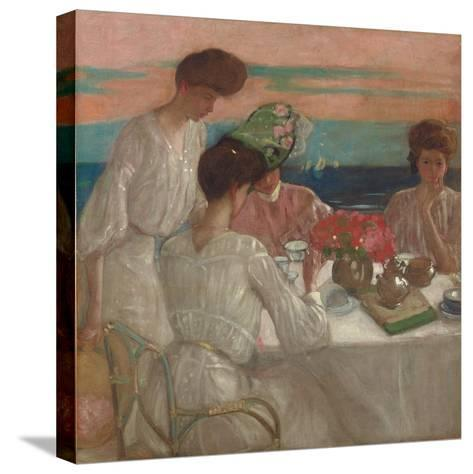 Afternoon Tea on the Terrace-Frederick Karl Frieseke-Stretched Canvas Print