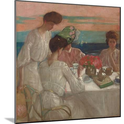 Afternoon Tea on the Terrace-Frederick Karl Frieseke-Mounted Giclee Print