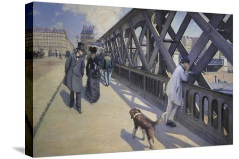 The Europe Bridge, 1876-Gustave Caillebotte-Stretched Canvas Print
