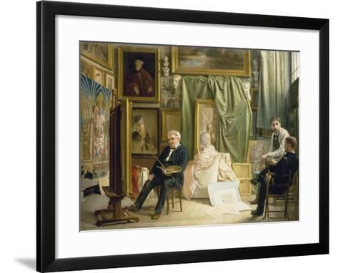 The Studio of the Artist Victor Mottez, Father of the Painter Henri Mottez, Ca. 1890-95-Henri Mottez-Framed Art Print