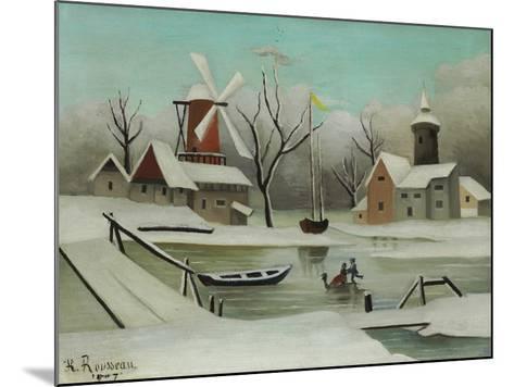 Winter (L'Hiver), 1907-Henri Rousseau-Mounted Giclee Print