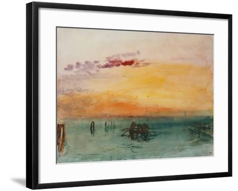 Venedig, View from Fusina, 1840-J^ M^ W^ Turner-Framed Art Print