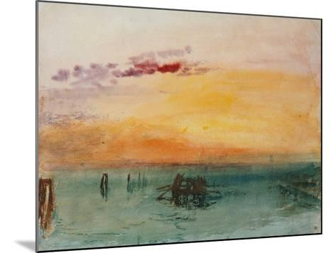 Venedig, View from Fusina, 1840-J^ M^ W^ Turner-Mounted Giclee Print