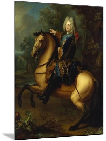 King August III, of Poland as Prince on Horse, C. 1718-Louis Silvestre-Mounted Giclee Print