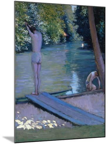 Bathers on the Banks of the River Yerres-Gustave Caillebotte-Mounted Giclee Print