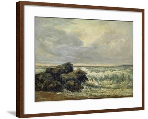 The Wave, Um 1870-Gustave Courbet-Framed Art Print