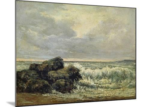 The Wave, Um 1870-Gustave Courbet-Mounted Giclee Print