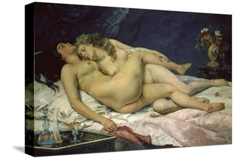 The Sleep (Le Sommeil), 1866-Gustave Courbet-Stretched Canvas Print