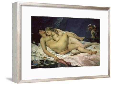 The Sleep (Le Sommeil), 1866-Gustave Courbet-Framed Art Print