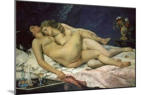 The Sleep (Le Sommeil), 1866-Gustave Courbet-Mounted Giclee Print