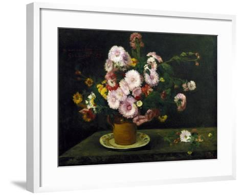 Still Life with Asters, 1859-Gustave Courbet-Framed Art Print