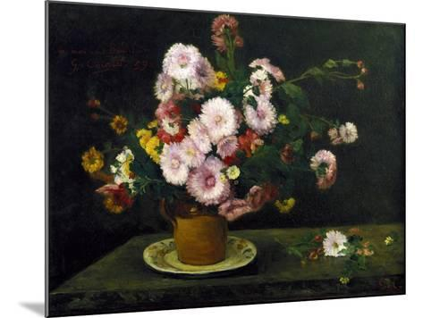 Still Life with Asters, 1859-Gustave Courbet-Mounted Giclee Print