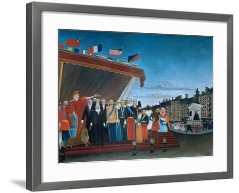 The Representatives of Foreign Powers Coming to Salute the Republic, 1907-Henri Rousseau-Framed Art Print