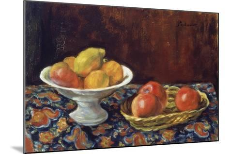 Still Life with Apples, Ca 1923-Jozef Pankiewicz-Mounted Giclee Print