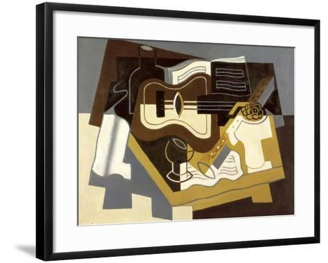 Guitar and Clarinet, 1920-Juan Gris-Framed Art Print