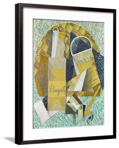 Bouteille De Banyuls, 1914-Juan Gris-Framed Art Print