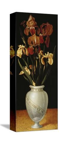 Vase with Lilies and Iris, 1562-Ludger Tom Ring-Stretched Canvas Print