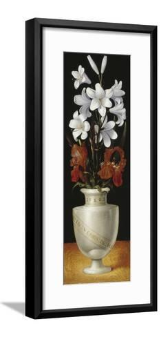 Flower Vase with Brownish-Red and White Lillies, 1562-Ludger Tom Ring-Framed Art Print