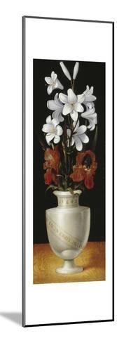 Flower Vase with Brownish-Red and White Lillies, 1562-Ludger Tom Ring-Mounted Giclee Print