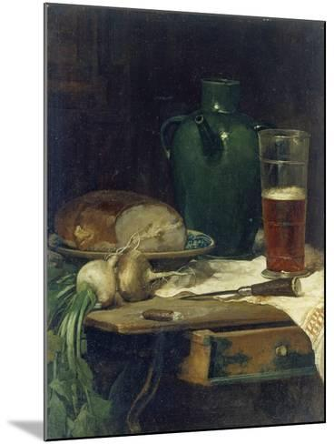 Still-Life with Bread and Beer-Ludwig Eibl-Mounted Giclee Print
